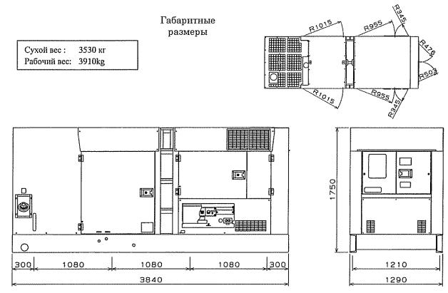 Габариты и вес Airman SDG220S