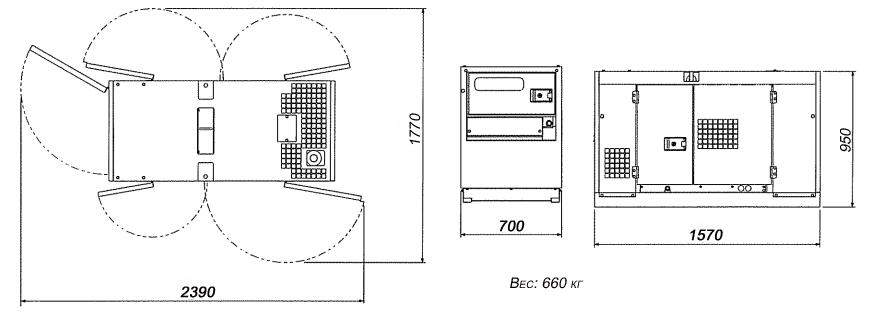 Расмер и вес Airman SDG25S