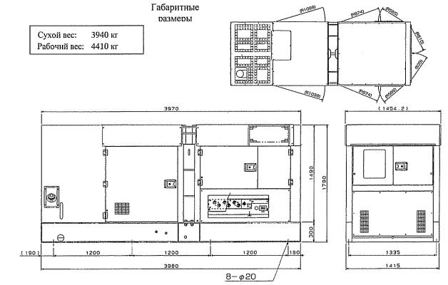 Габариты и вес Airman SDG300