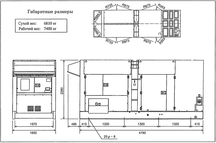 Вес и размер Airman SDG500S